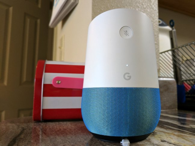 google-home-mic-button-wide-counter-marine Save $30 when you buy 2 Google Homes from Verizon Android
