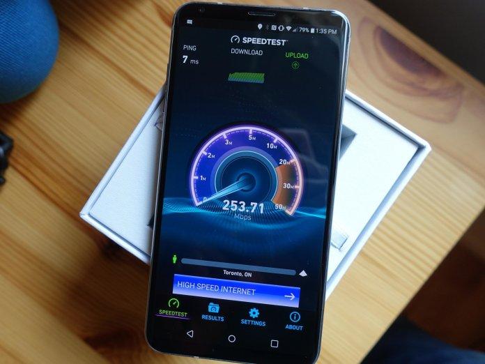 LG V30 speed test