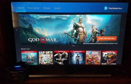 PlayStation Now home screen