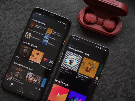 Spotify and YouTube Music apps