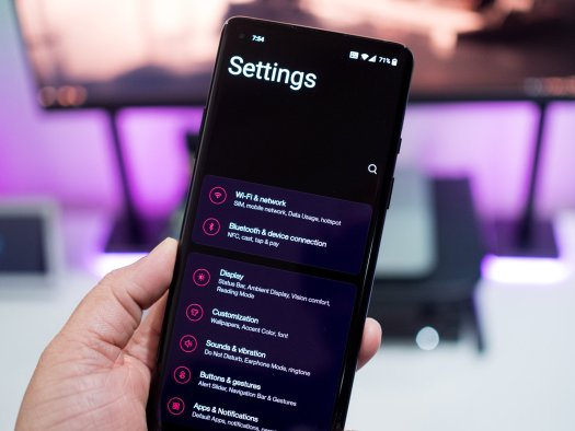 OxygenOS 11 settings page