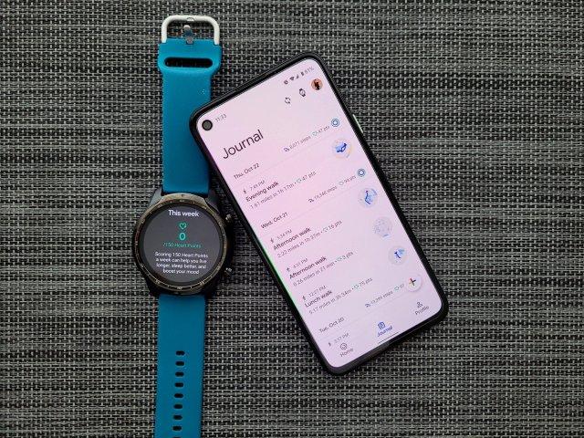Google Fit Journal Ticwatch Pro
