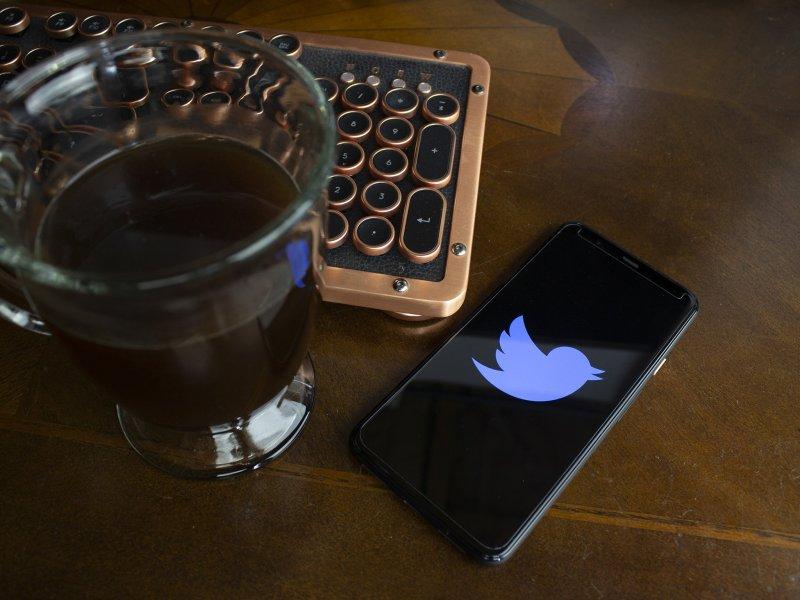 Twitter Logo Coffee Keyboard