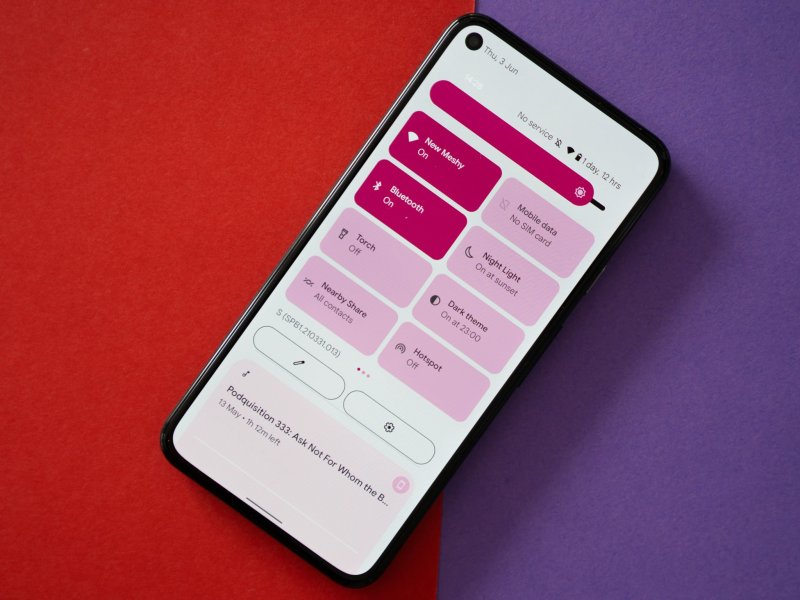 Android 12 Hero Quick Settings