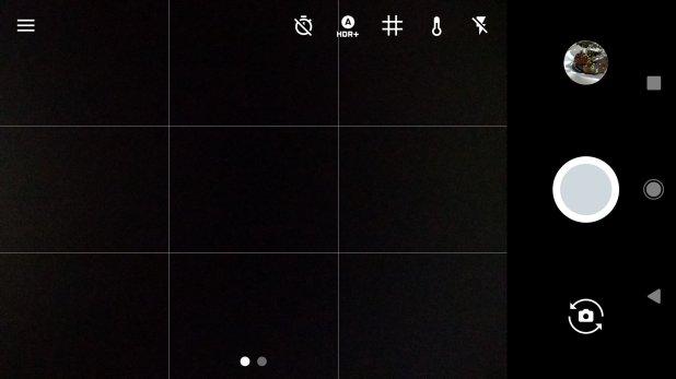 Pixel XL camera interface