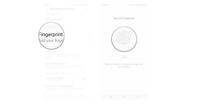 Tap Fingerprint scanner, Follow the instructions to add your fingerprint.