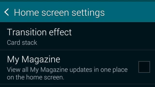 Home screen settings