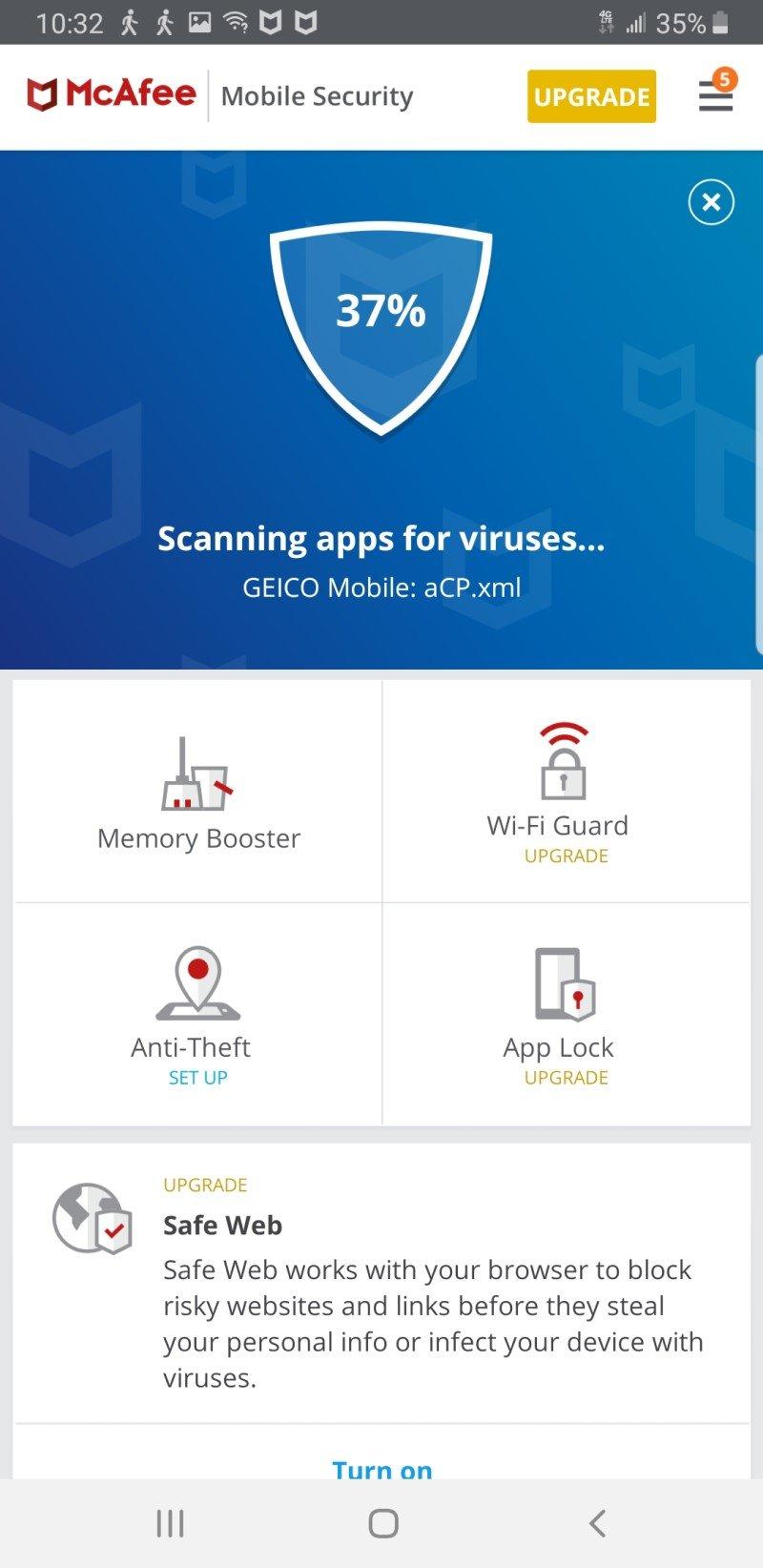 Mcafee Mobile Antivirus Screenshot Edited