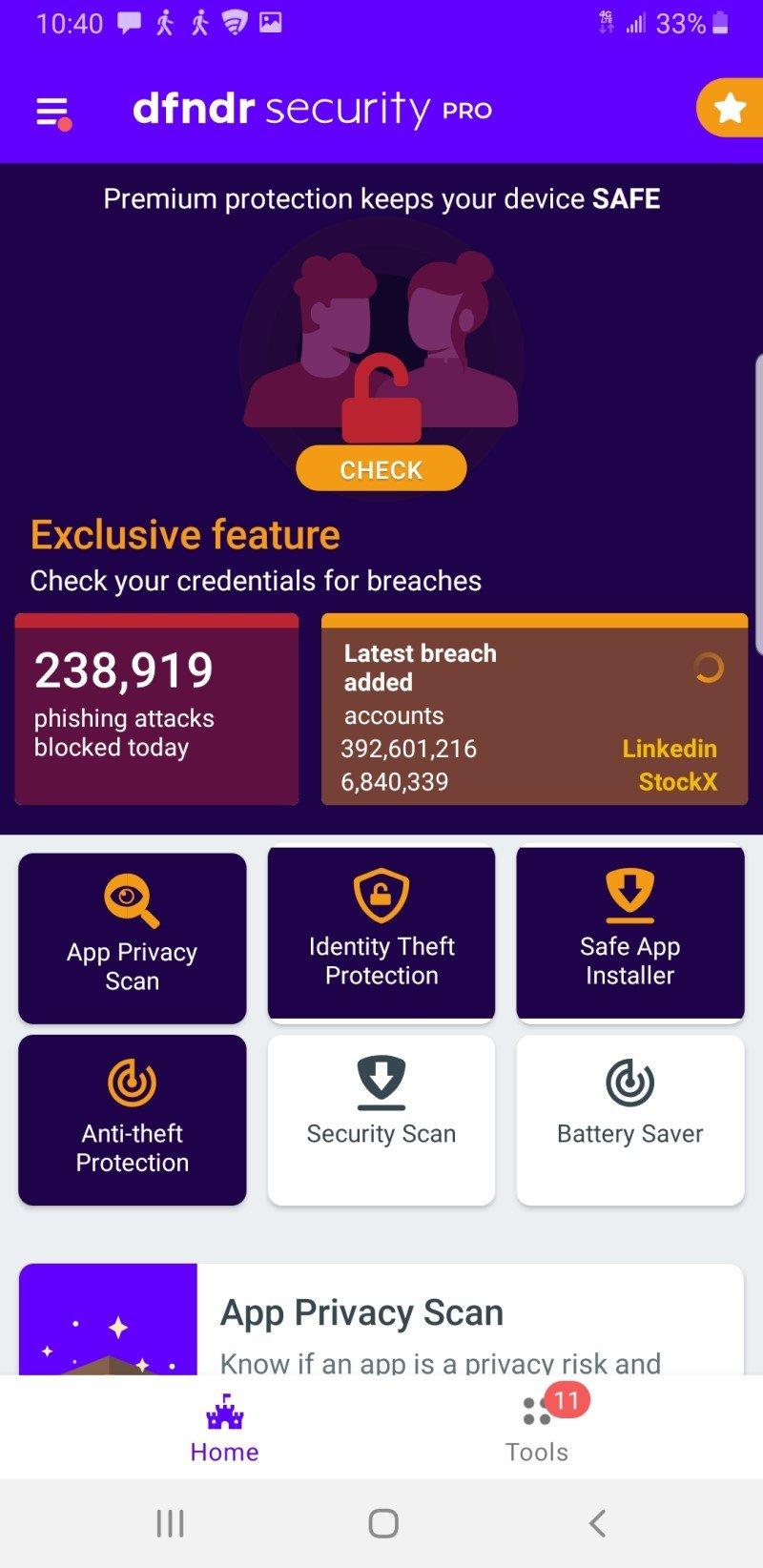 Psafe Dfndr Mobile Antivirus Screenshot Edited