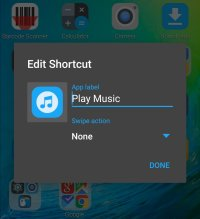 Editing individual shortcuts and icons is simple and powerful.