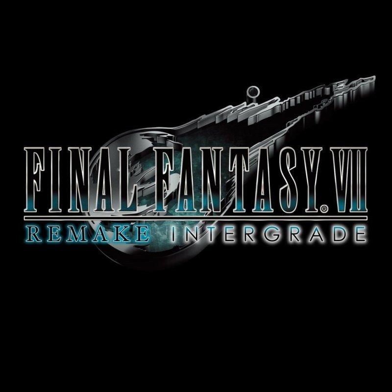 Final Fantasy Remake Intergrade Logo Black