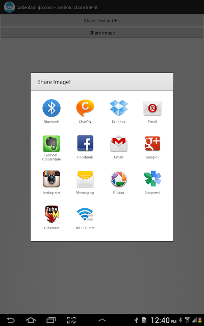 android share intent example