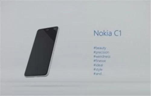 Android İşletim Sistemli Nokia C1