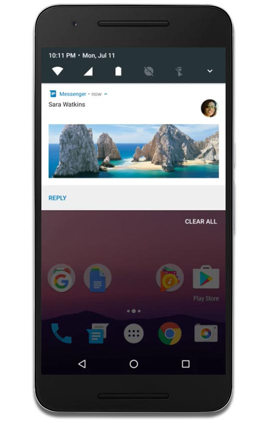 android nougat notifications feature