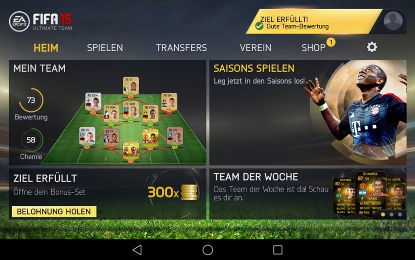 FIFA 15 Ultimate Team descargar