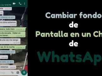 Cambiar fondo de pantalla en un chat de WhatsApp