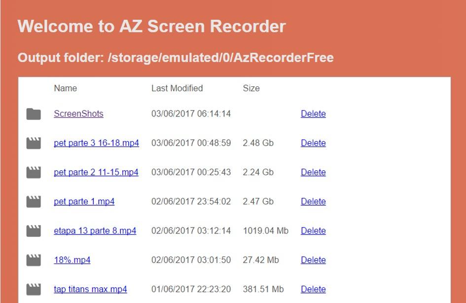 AZ Screen Recorder: pasando archivos a pc