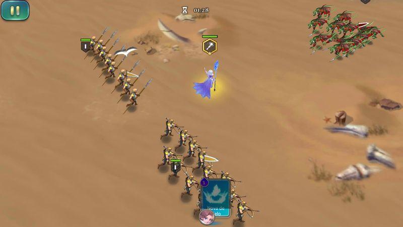 Batallas estratégicas en todo momento.