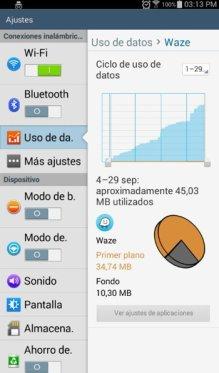 Considera el consumo de datos que Waze requiere