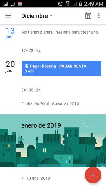 Recordatorio con Google Calendar