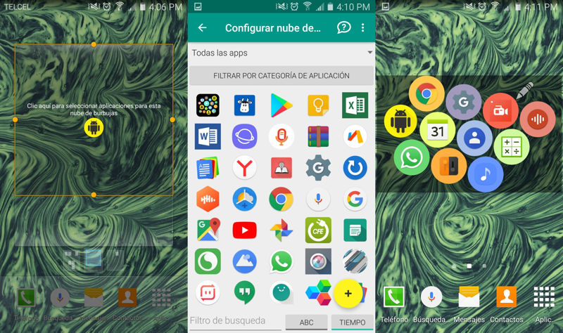 Configurar Bubble Cloud Widgets para Android