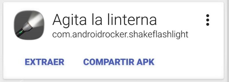Extraer o Compartir APK