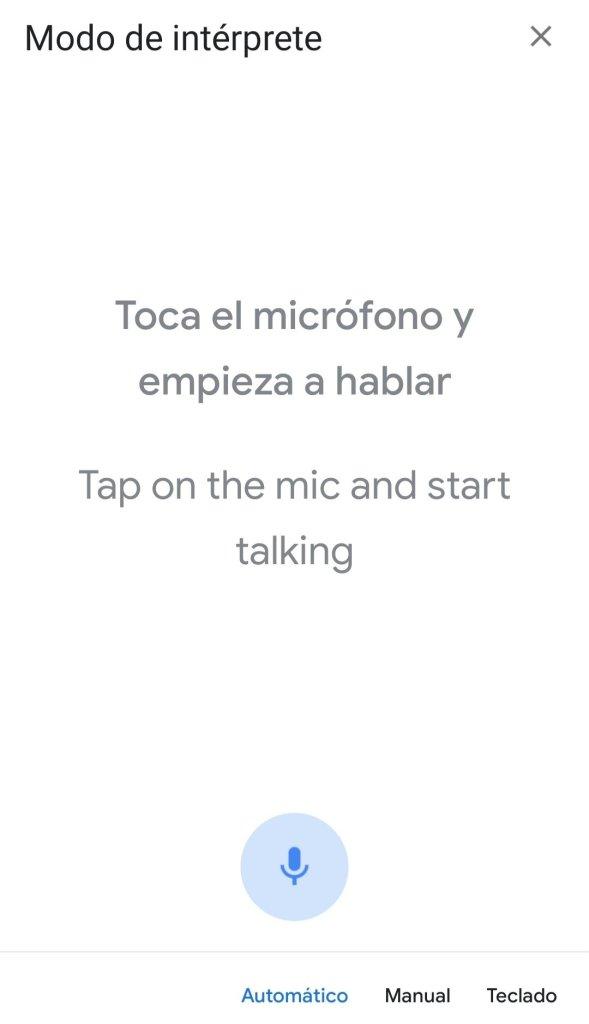 Toca el micrófono para hablar