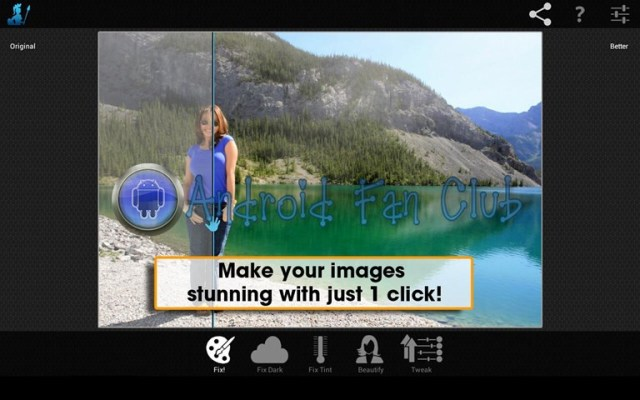 Perfectly Clear Camera for Android smartphones & tablets