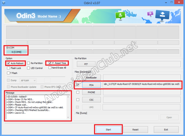 ODIN Flasher - Rooting Guide for Galaxy S3 - GT-I9300 and Android 4.3 Jelly Bean