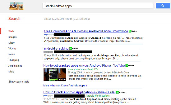 How To Remove Cracked Apps Illegal Download Links On Google