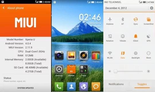 Install MIUI ICS ROM For Sony Xperia U ST25 Locked