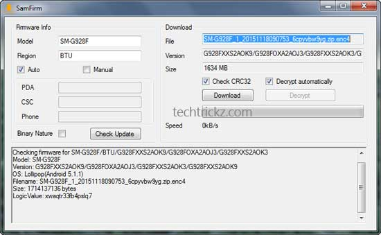 Full guide to Download Samsung Stock Firmware Directly From Samsung Servers Using SamFirm Tool