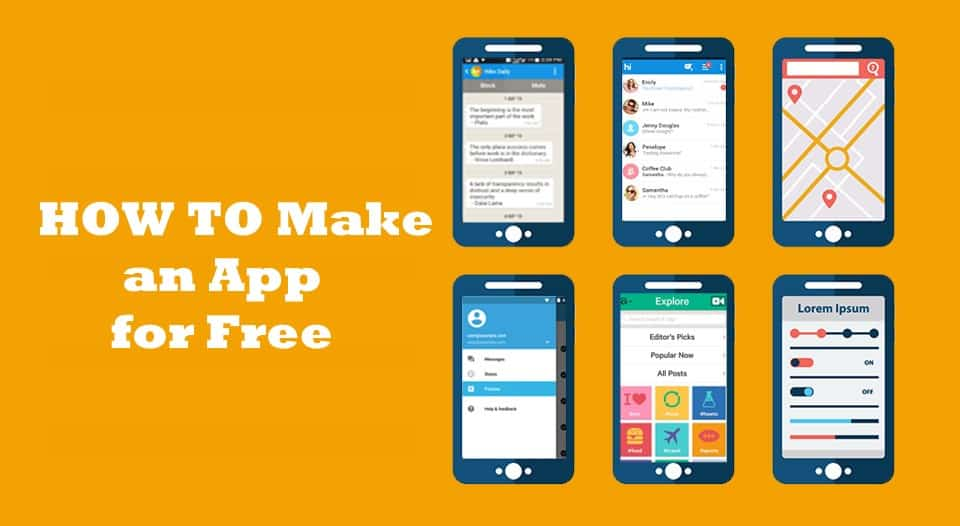 Make an App for Free – Best Free Mobile App Makers