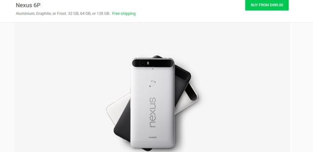 nexus 6p price