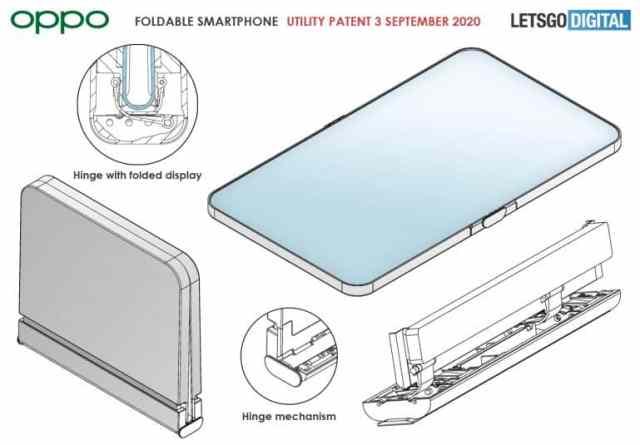 oppo foldable clamshell design