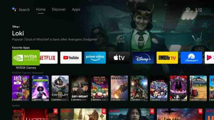 New NVIDIA SHIELD TV Discover Tab