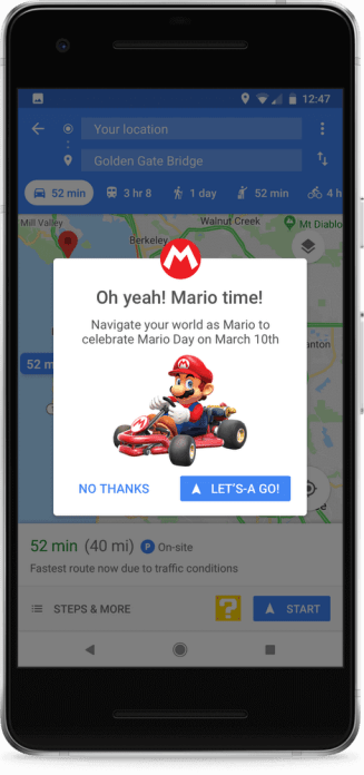 Mario Inside of Google Maps