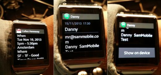 Galaxy Gear Notificaties update
