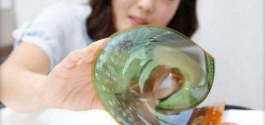 LG oprolbaar Transparant OLED display