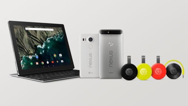 Pixel C+Chromecast+Nexus 5X+Nexus6P