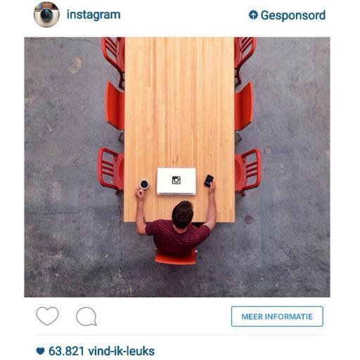 Instagram gesponsorde foto