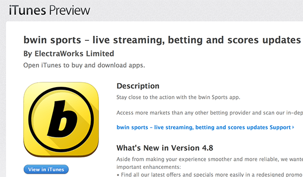 bwin app store apple