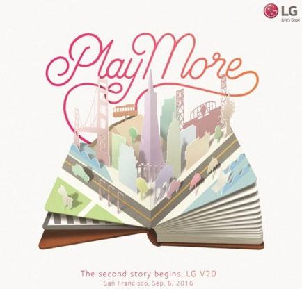 LG V20 uitnodiging