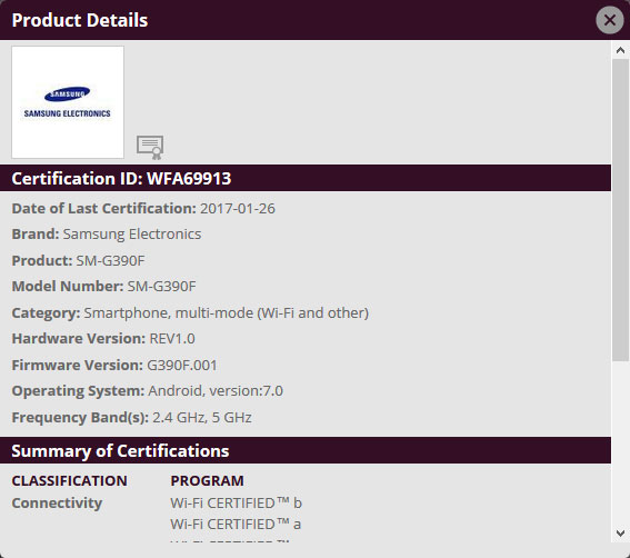 wi-fi-certificaat-galaxy-xcover 4