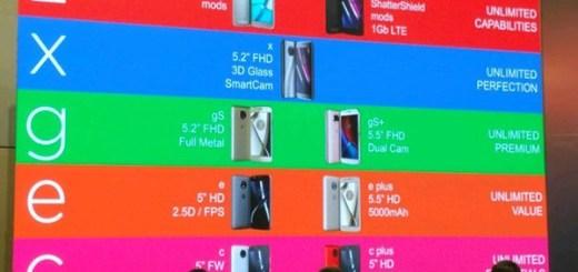 2017 Motorola Moto smartphones