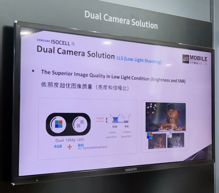 samsung isocell dual camera