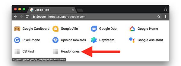 Google Help headphones