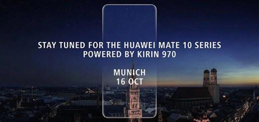 Huawei Mate 10 Pro uitnodiging