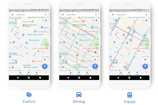 Google Maps Nieuw uiterlijk