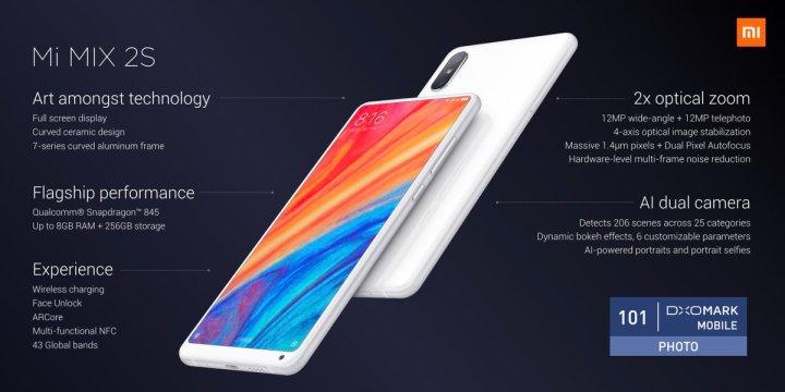 Xiaomi-Mi-Mix-2S-functies